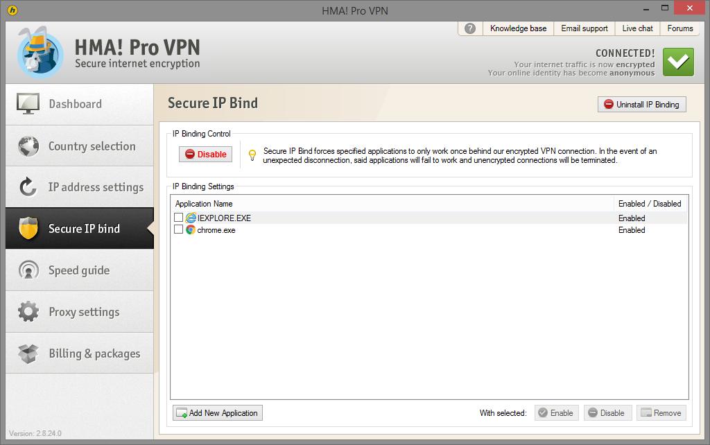 hma v2 secure IP bind