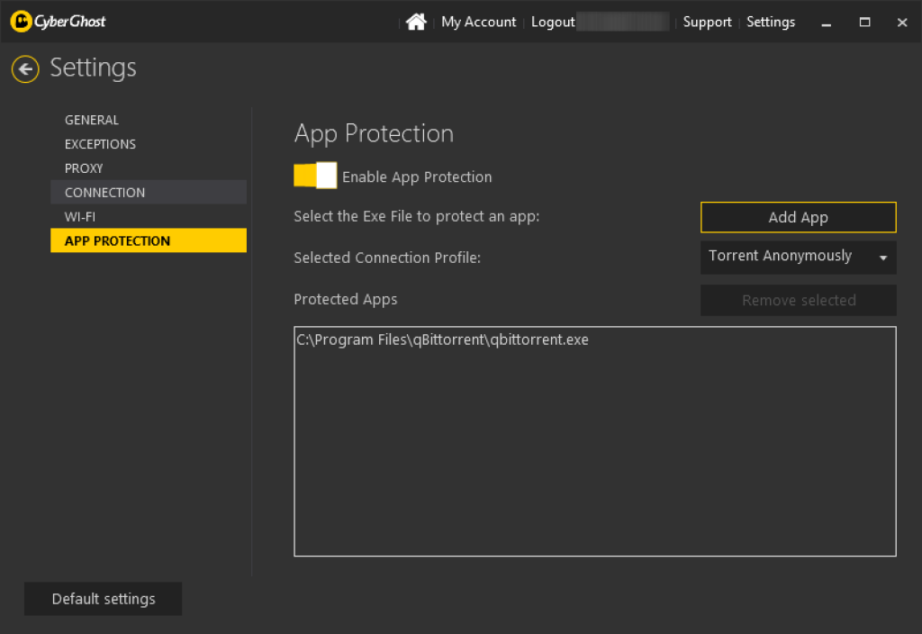 cyber ghost vpn review app protection