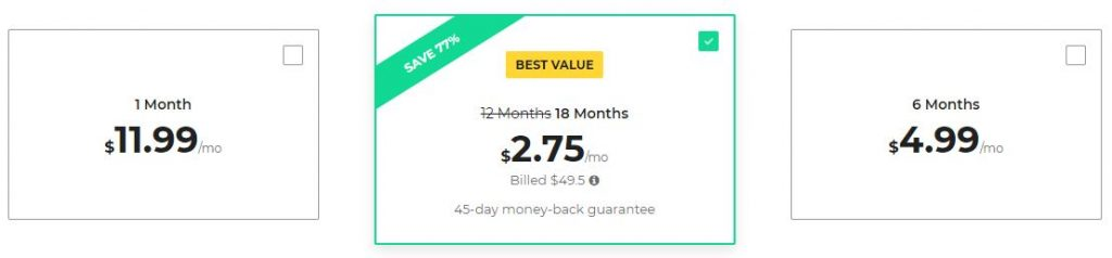 cyberghost price nov 2018