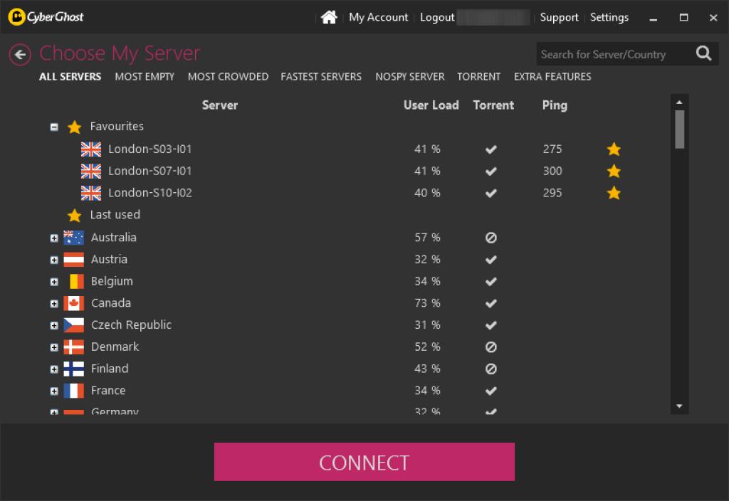cyberghost vpn review servers