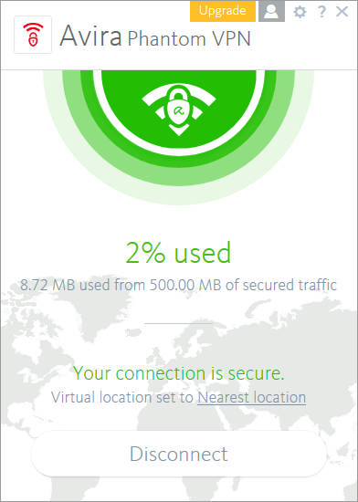 avira phantom vpn connected