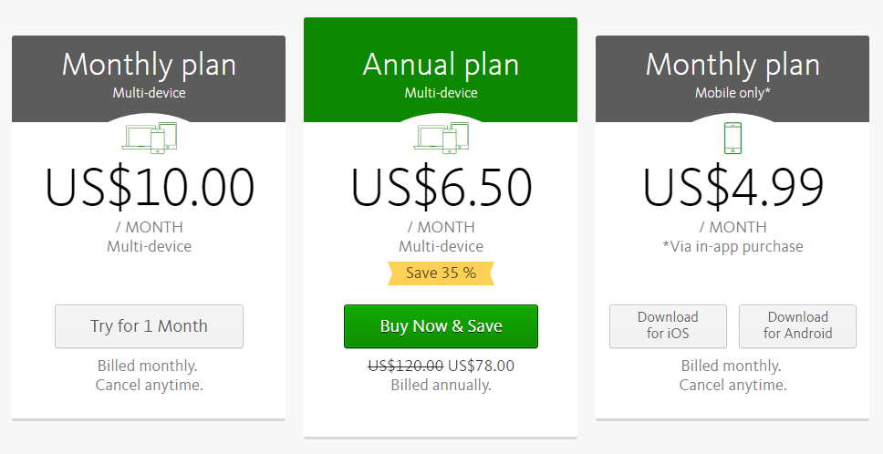 avira phantom vpn pricing