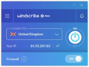 windscribe pro uk server