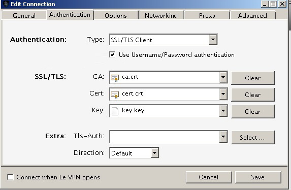 levpn advanced settings