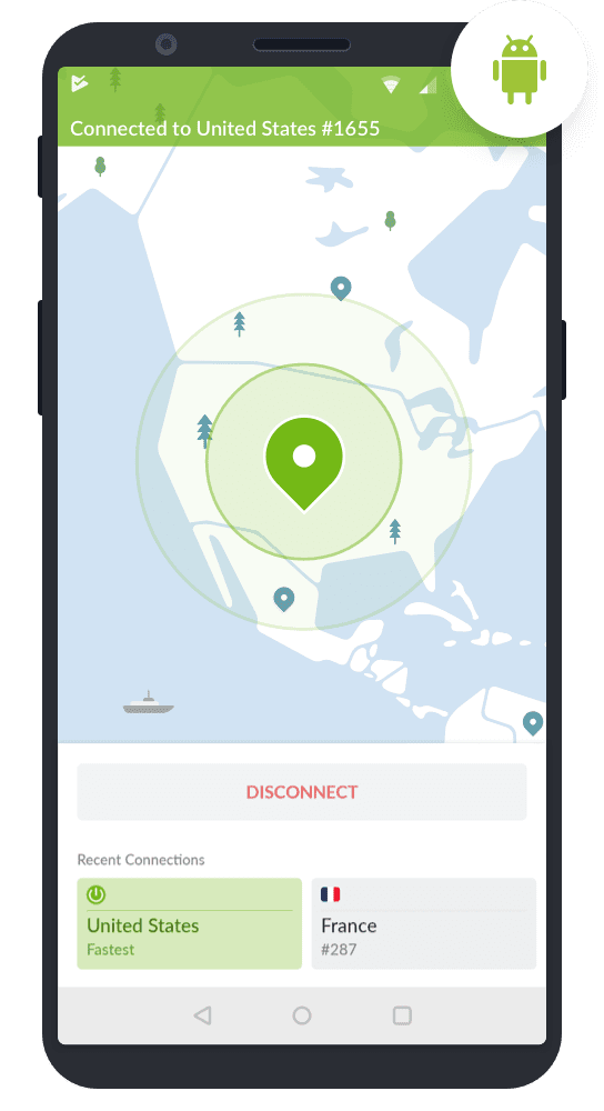 nordvpn android connected