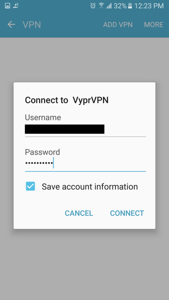 android connect to vpn