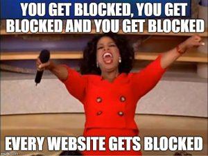 websites blocked in china
