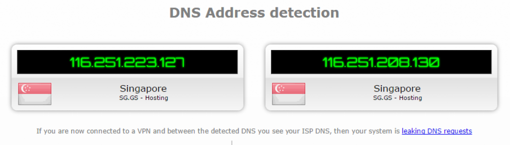 vyprvpn japan DNS leak test