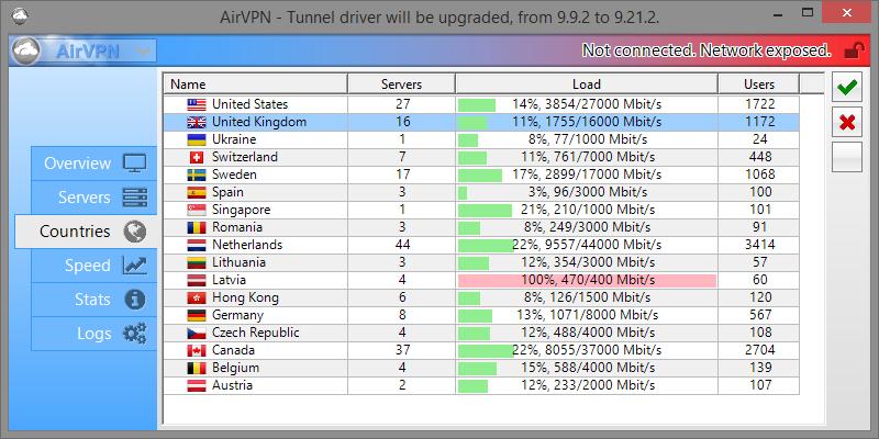 airvpn countries tab
