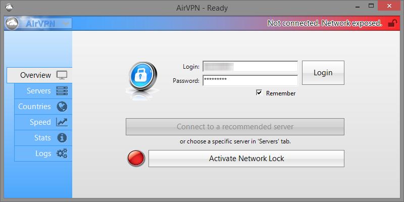 airvpn interface eddie