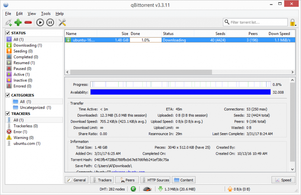 qbittorrent downloading