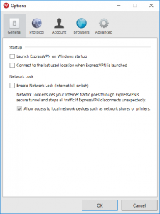 VPN kill switch expressvpn