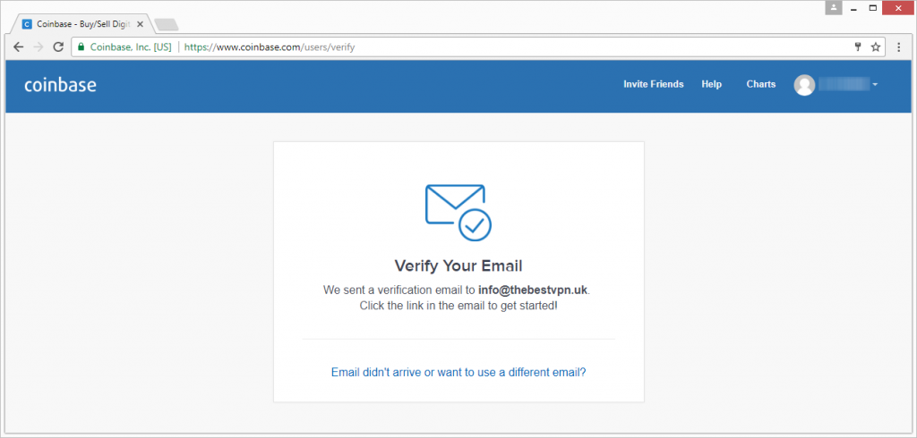coinbase verify your email