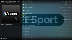 bt sport downloading