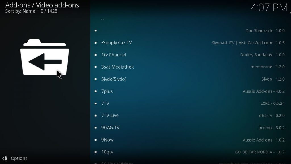 kodi add on browser