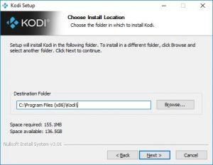 kodi install location