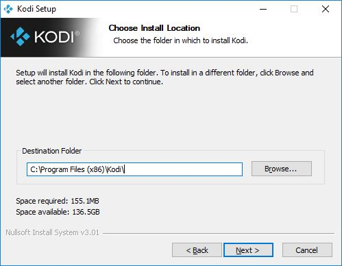 kodi install location