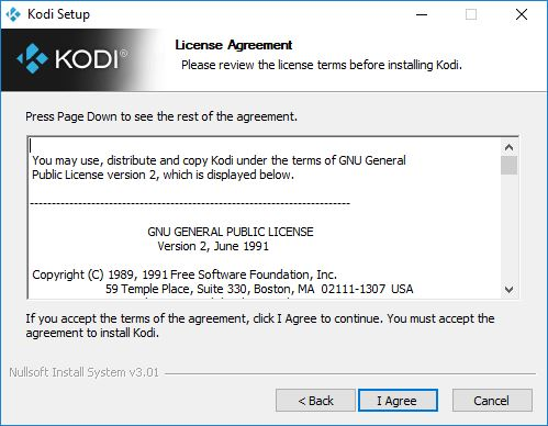 kodi license agreement