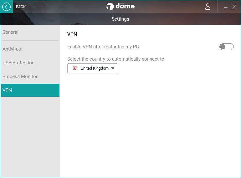 panda vpn settings