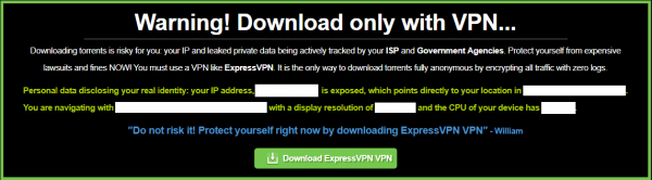 Download only with VPN