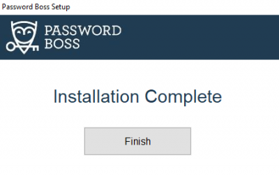 Finish installing Password Boss